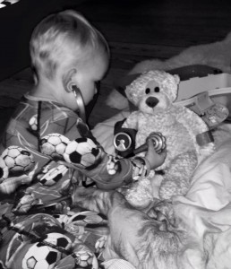 Vitus med bamse